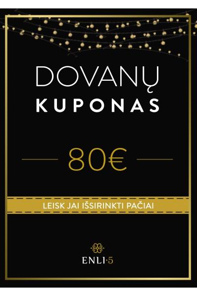80€ Dovanų kuponas