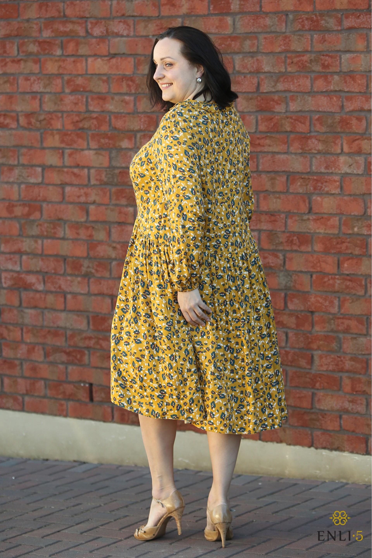 "Geltona gėlėta suknelė ""BETANI"""