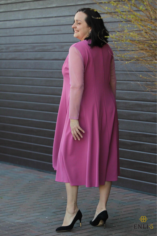 Puošni rožinė suknelė NELDA