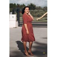 Raudonai marga suknelė VERINA