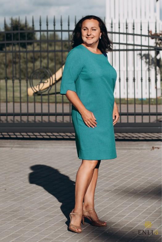 Vasarinė smaragdo spalvos suknelė GABI