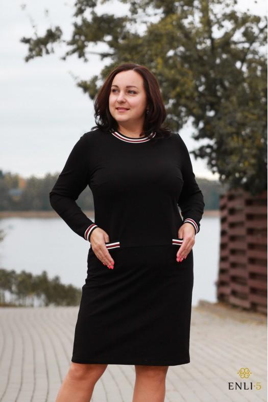 """Juodos spalvos suknelė """"Raudona Agata"""""""
