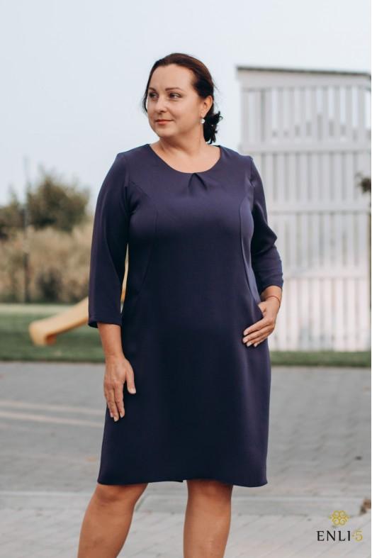 Tamsiai mėlyna suknelė RENI