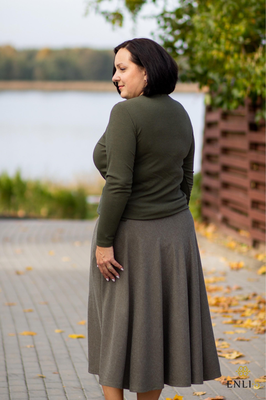 Chaki kliošinis sijonas MADAM