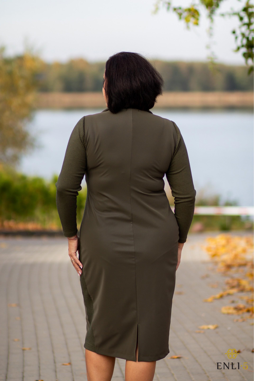 Chaki spalvos suknelė MONI