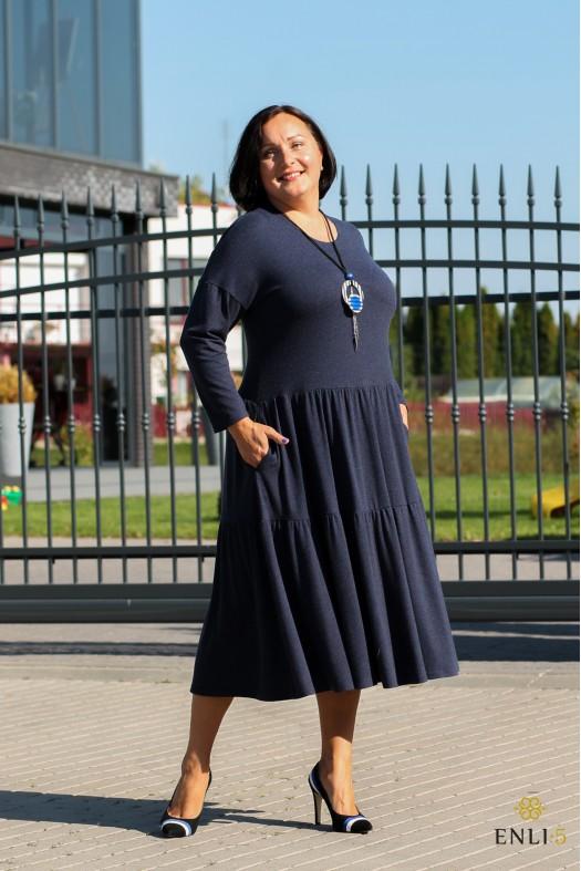 Mėlyna angorinė suknelė BRIGITA