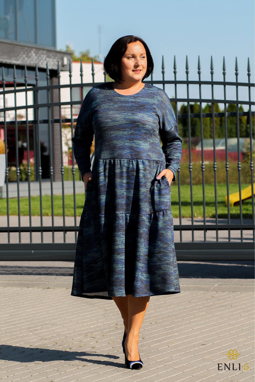 Mėlynai marga suknelė BRIGITA