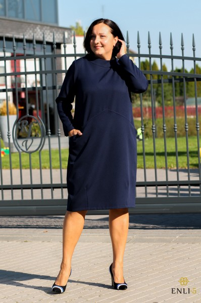 Tamsiai mėlyna suknelė ELIZA