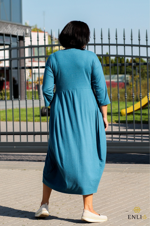 Vandens spalvos angorinė suknelė ALINA