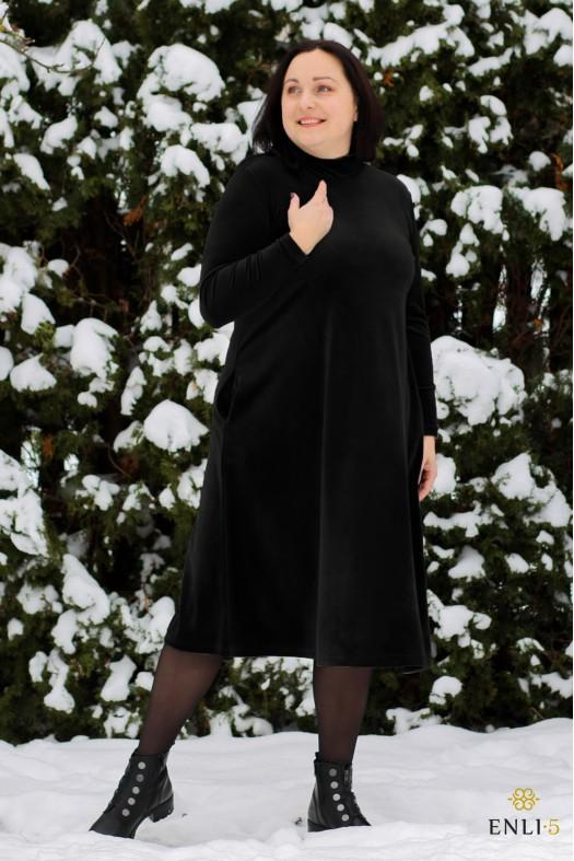 Platėjanti juodos spalvos suknelė DALI