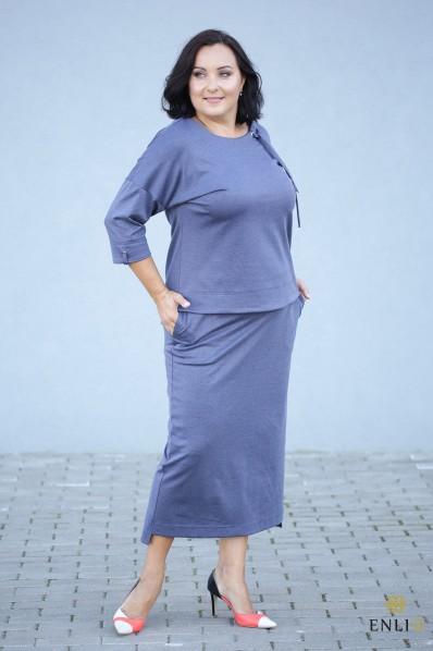 """Pilkai mėlynos spalvos sijonas """"Vivi"""""""