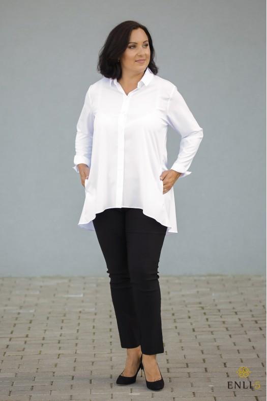 Baltos spalvos platėjantys ploni marškinukai