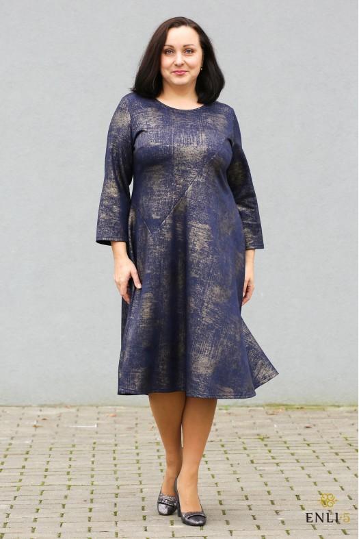 """Mėlyna/auksinė suknelė """"Loana"""""""