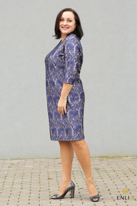"""Mėlynos spalvos šventinė suknelė """"Beilė"""""""