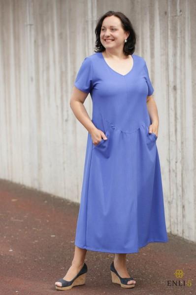 """Džinsinio mėlynumo suknelė """"Lineta"""""""