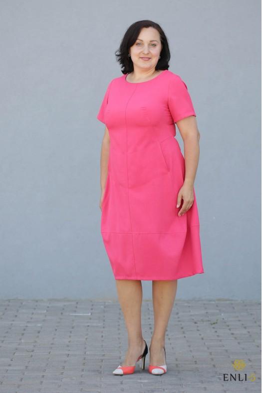 """Rožinės spalvos suknelė """"Džordža"""""""