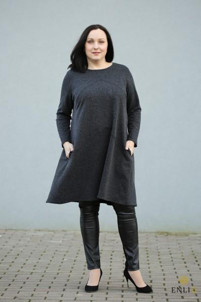 """Pilkos spalvos tunika - suknelė """"Lili"""""""