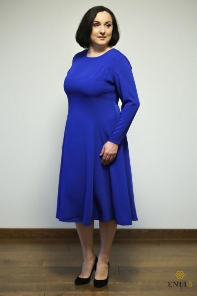 """Ryškiai mėlyna, blizgi suknelė """"GODE"""""""
