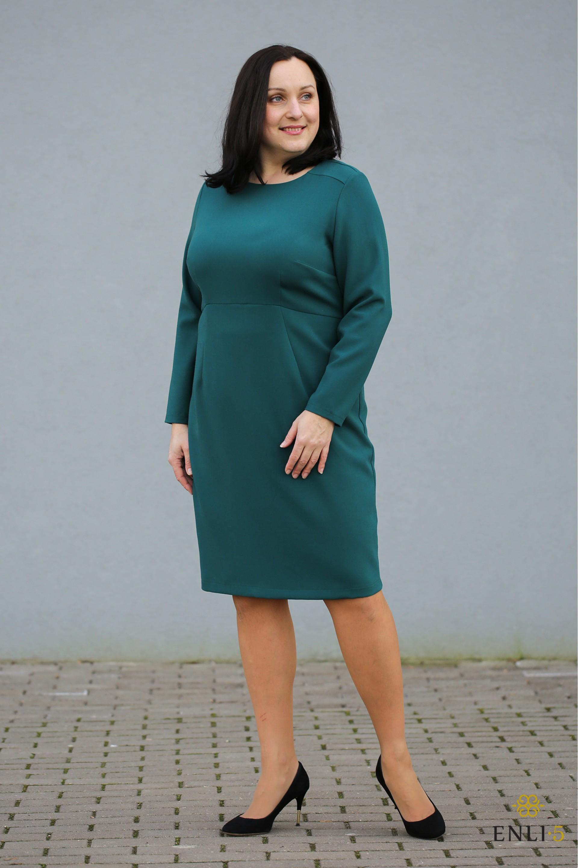 """Smaragdinės spalvos suknelė """"ELLY"""""""