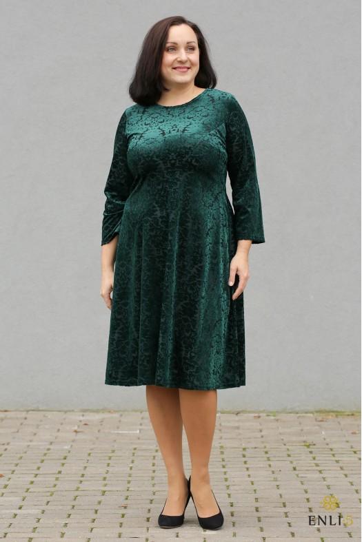 """Smaragdo spalvos aksominė suknelė """"Loana"""""""
