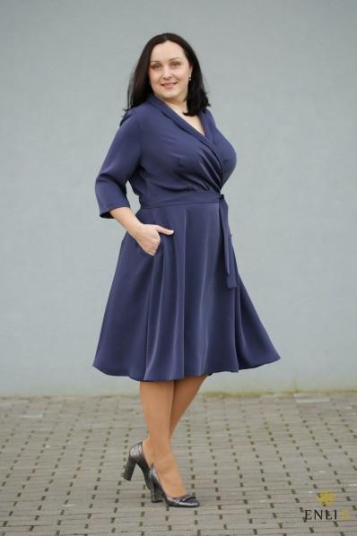 """Tamsiai mėlyna suknelė """"DONA"""""""