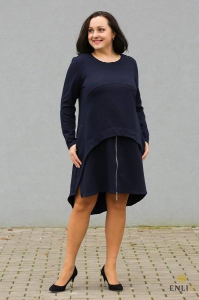 """Tamsiai mėlynos spalvos suknelė - tunika """"Rasa"""""""