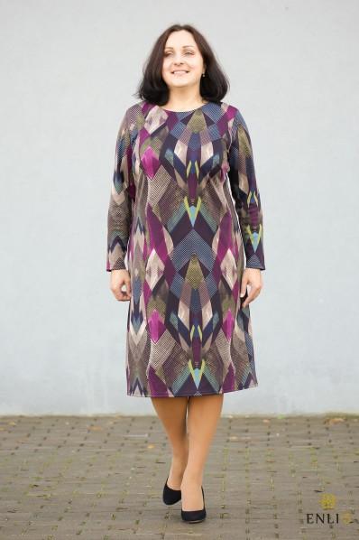 """Violetinių atspalvių suknelė """"Verdina"""""""