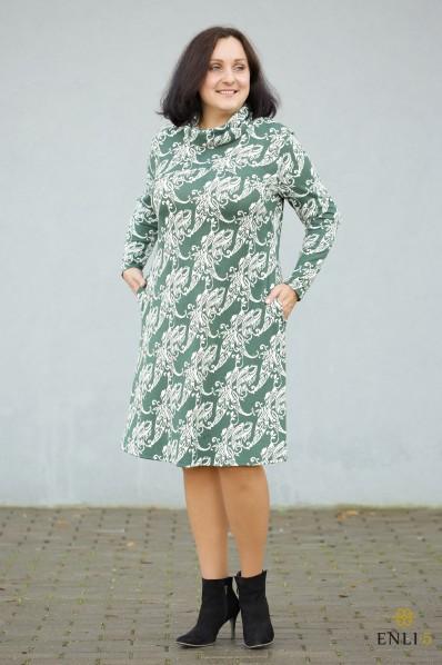 """Žalia/balta suknelė """"Freda"""""""